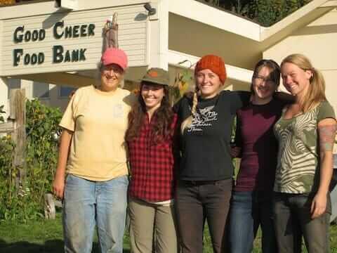 Good Cheer garden with Cary Peterson, Alexa MacAulay, Camille Green, Lissa Firor, Casey Jackson