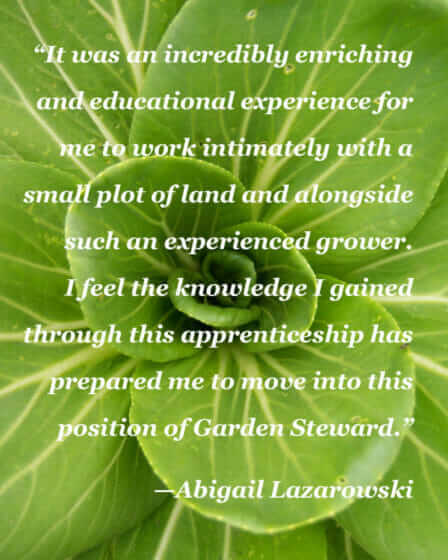 """Enriching and educational plot of land."" - Abigail Lazarowski"