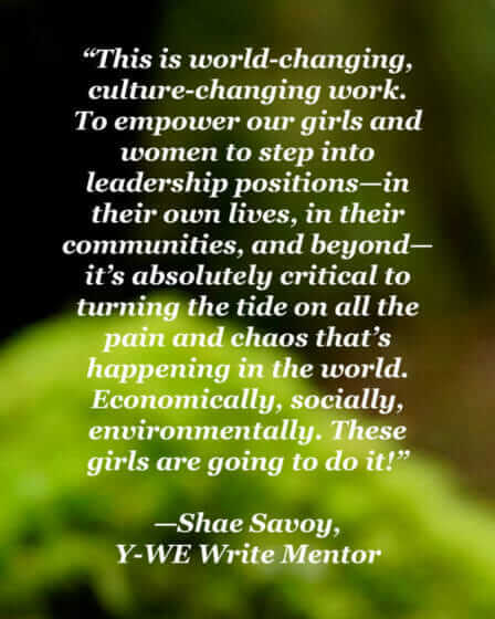 """To empower our girls and women is critical"" - Shae Savoy"