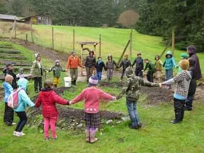 Waldorf students at Chinook