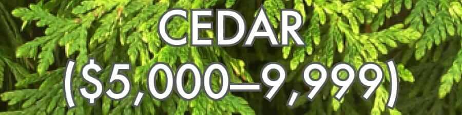 Cedar ($5000–9999)